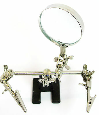 Helping Hand  Magnifier/ Magnifying Glass & Clamps Adjustable HB237 Hobby