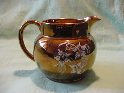 Wade Pottery Gold Pitcher