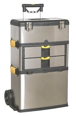 Sealey Stainless Steel Mobile Roll Along Toolbox Split Or As 1 Unit