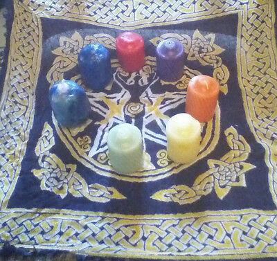 CHAKRA CLEANSING VOTIVE CANDLE SET-WICCAN/PAGAN/BUDDHIST/REIKI