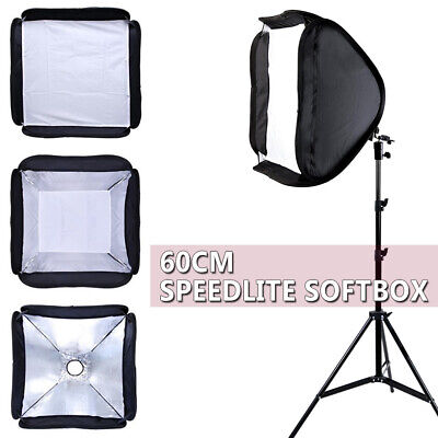 Portable Studio Soft Box Flash Speedlite Softbox Diffuser for Speedlight + Stand