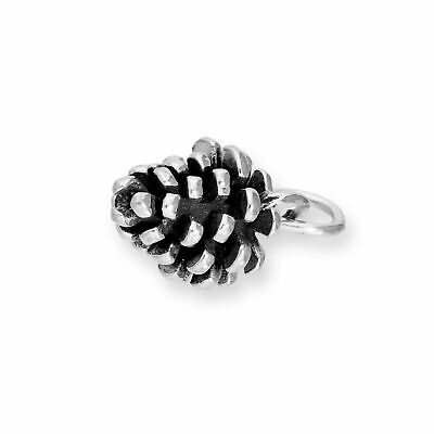 925 Sterling Silver Pine Cone Charm