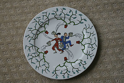 """12"""" Plate by artist Joost Swarte for Randstard Holding 2001 Anno Large Plate"""