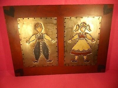 Americana-Folk Art- Signed-Hand Crafted-Country Style-Painted & Punched Tin