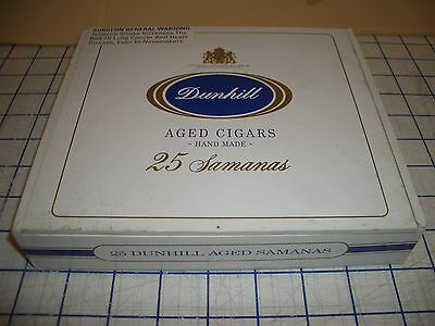 Dunhill 25 Samanas Paper Cover Empty Wood Cigar Box Beads Buttons Collecting