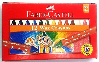 Faber-Castell :: 12 Wax Crayons :: Assorted Shades  :: Oil Pastels :: 57 mm each