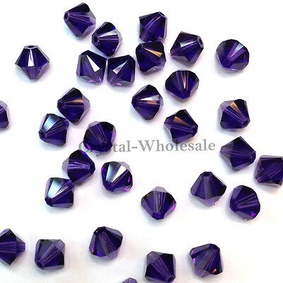 208 Genuine Swarovski crystal 5328 XILION Loose Bicone Beads 6mm Siam