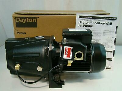 Dayton Shallow Well Jet Pump 1HP 115V 10.5A 4TB34
