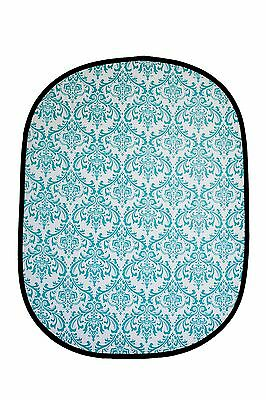 Studiohut 5'x6' Blue/White Damask Collapsible Photo Video Backdrop/Background