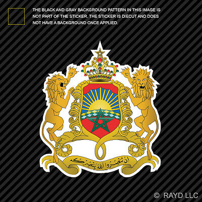 Moroccan Coat of Arms Sticker Decal Self Adhesive Vinyl Morocco flag MAR MA