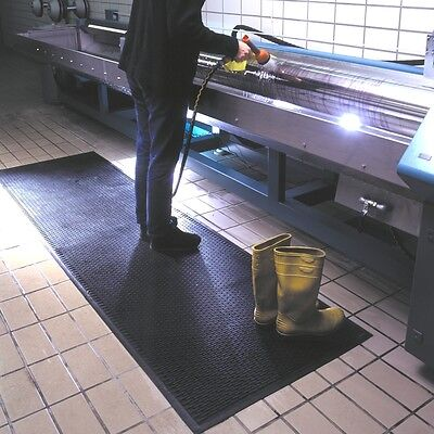 Hard wearing solid rubber anti-fatigue Mat, Health & Safety Mat, Kleen-Scrape