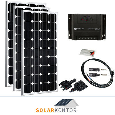 20w solar bausatz 12v komplett set solaranlage garten inselanlage weidezaun eur 59 90. Black Bedroom Furniture Sets. Home Design Ideas