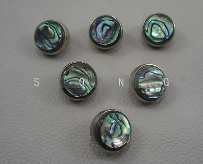 6 pcs trumpet finger buttons + real pearl