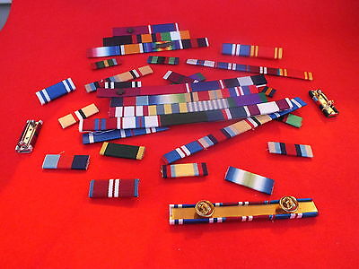 MEDAL RIBBON BAR - 6 SPACE FULL SIZE - PINNED or STUDDED or SEWN