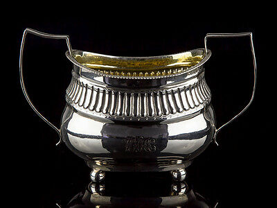 1811 Dated Georgian Sterling Silver Sugar Bowl Sucriere