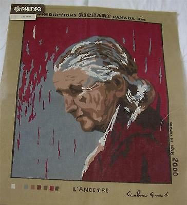 THE ANCESTOR NEEDLEPOINT CANVAS 16 x 19 -10/20ct  RICHART MADE IN CANADA