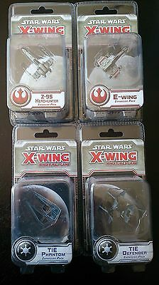 Star Wars X-Wing: Minatures Game Bulk Lot of (four) Wave 4 Ships