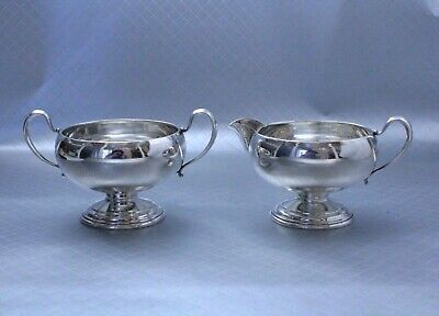 Sterling Silver Sugar Bowl and Creamer Pitcher by Frank Whiting NOT weighted