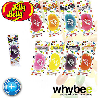 Jelly Belly 3D Hanging Air Freshener Long Lasting Car Fragrance- Select Flavour