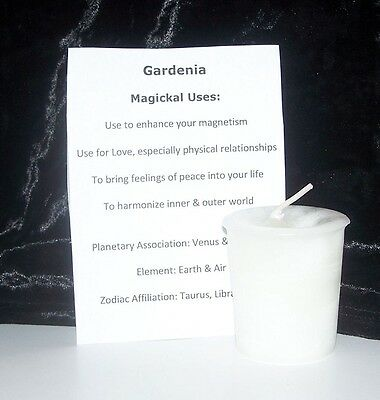 GARDENIA CRYSTAL JOURNEY Candles Manifestation candle LOVE Magnetism PEACE