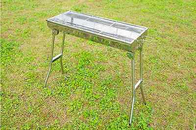 NEW Stainless Steel Portable Camping Pacnic Outdoor Charcoal BBQ Grill