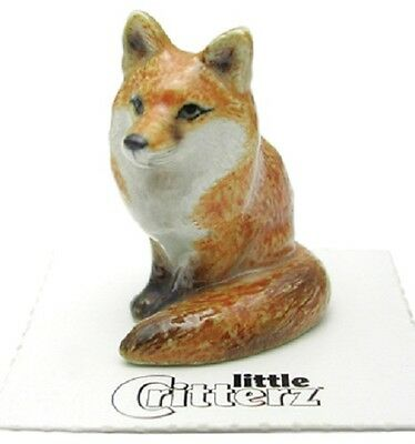 "LC954 - Little Critterz Miniature Red Fox named ""Brush"" (Buy 5 get 6th free!)"