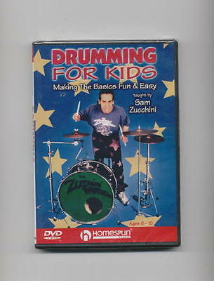 DRUMMING FOR KIDS - Drum Lesson *new* Dvd Drums