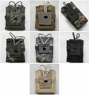 New Tactical Molle Short Radio Pouch 6 Colors--Airsoft Game
