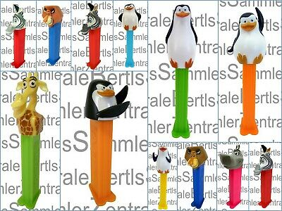 PEZ - MADAGASCAR - HIPPO - ZEBRA - MELMAN - SKIPPER - Please select !!!