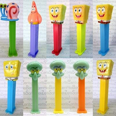 PEZ - SPONGE BOB - SQUIDWARD - PATRICK - GARY THE SNAIL + VARIANTS Please select