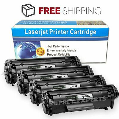 4PK Premium Compatible HP 12A Q2612A Black Toner Cartridge - LaserJet 1010
