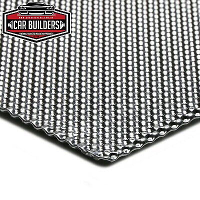 ALUMINUM EMBOSSED HEAT SHIELD, Factory look DIY heat shield material