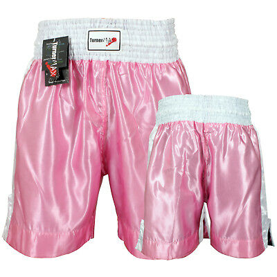 TurnerMAX Boxing Fight Shorts Grappling Cage Martial Art Men Trunks Pink