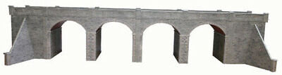Metcalfe Double Track Viaduct in Stone OO Gauge Card Kit PO241