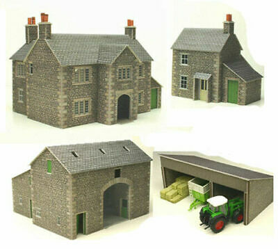 Metcalfe Manor Farm Set N Gauge Card Kit PN150