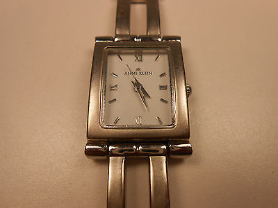 Anne klein women 39 s square face watch tan leather band y121e for Anne klein y121e