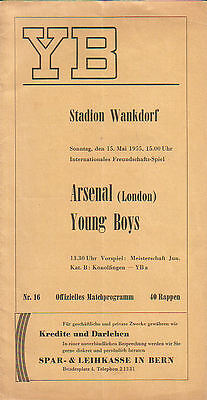 Young Boys Berne v. Arsenal 15/5/1955 Friendly