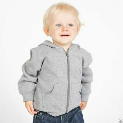 Plain Baby Zipper Hoodie | Kids Children's Jacket | 11 Colours  Size 00-4 New
