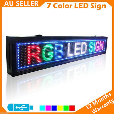 Indoor 3 Colour LED Programmable Message Sign Scrolling Display Board P7 Panel