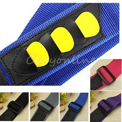 Adjustable Electric Acoustic Guitar Bass Picks Holder Strap Nylon Fashion Style