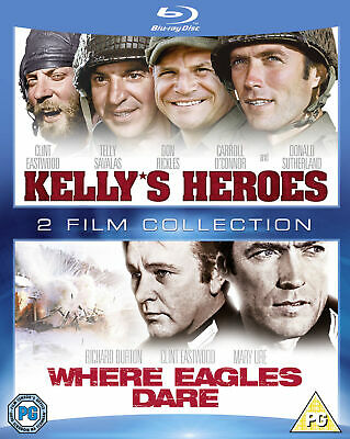 Kelly's Heroes/Where Eagles Dare Double Pack [1970] [Region Free] (Blu-ray)