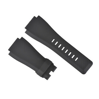 24Mm Rubber Watch Band Strap For Bell Ross Watch Black Br-01-Br-03 #2