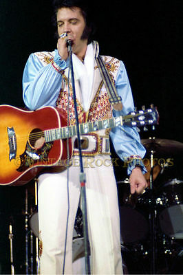 Elvis Presley 12x18 inch Poster Size Photo Print '70s Concert From Negative  72