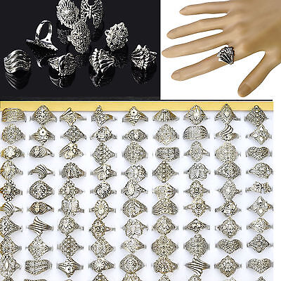 20PC Wholesale Lots Jewelry Mixed Style Tibet Silver Vintage Rings Free Ship HOT