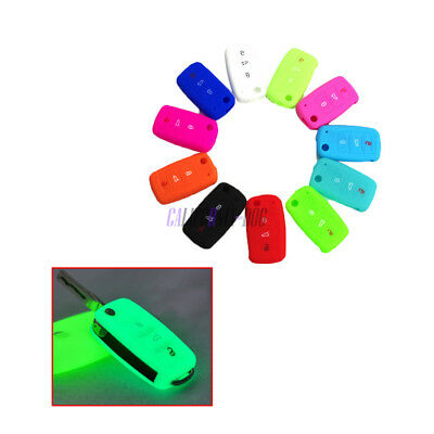 Silicone Key Cover Case Key Fob Protector For VW Jetta Golf Polo Tiguan 3Buttons