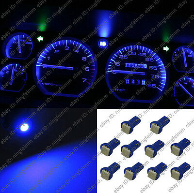 10x Blue T5 73 74 LED Light Instrument Gauge Dashboard Dash F Mitsubishi 5001w6