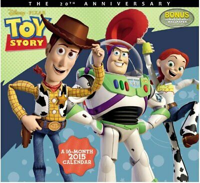 Walt Disney/Pixar Toy Story Movies 16 Month 2015 Wall Calendar #2, NEW SEALED