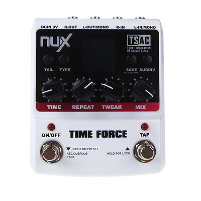 Guitar Effect Pedal Multi Digital Delay 11 Delay Effects By NUX TIME FORCE