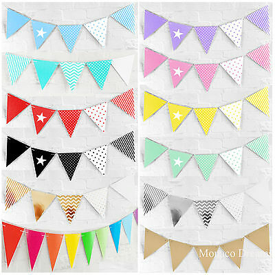 Bunting Flag Banner Hanging Birthday Party Baby Shower Decorations