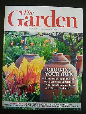 The Royal Horticultural Society. The Garden Magazine. March, 2014. VGC.